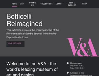 Main page screenshot of vam.ac.uk