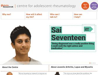 Main page screenshot of centre-for-adolescent-rheumatology.org