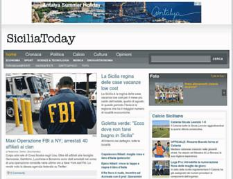 Main page screenshot of siciliatoday.net