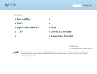 Main page screenshot of tgbf.tv
