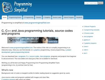 programmingsimplified.com screenshot