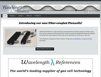 wavelengthreferences.com screenshot