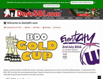 darts501.com screenshot
