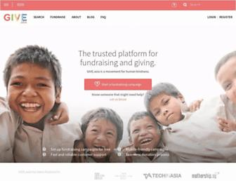 give.asia screenshot