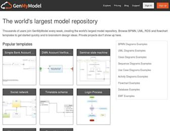 repository.genmymodel.com screenshot