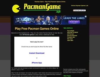 Main page screenshot of pacmangame.info