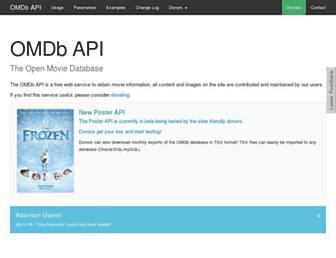 omdbapi.com screenshot