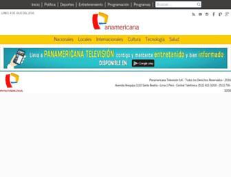 Thumbshot of Panamericana.pe