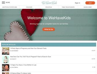 wehavekids.com screenshot