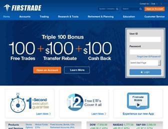 firstrade.com screenshot