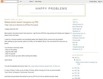 happyproblems.blogspot.com screenshot