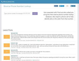 Thumbshot of Whocalled.info