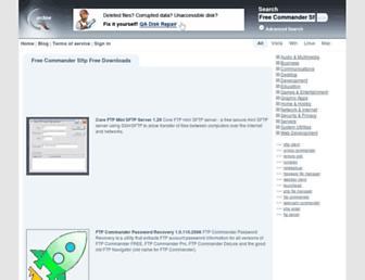 free-commander-sftp.qarchive.org screenshot