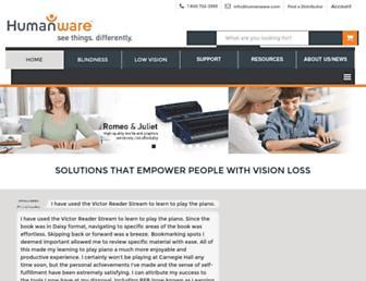 humanware.com screenshot