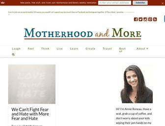 Thumbshot of Motherhoodandmore.com