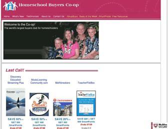 Thumbshot of Homeschoolbuyersco-op.org