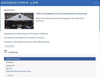 law.georgetown.edu screenshot