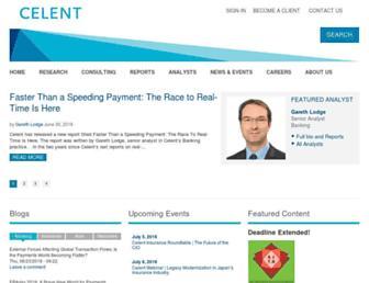 celent.com screenshot
