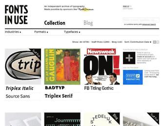 fontsinuse.com screenshot