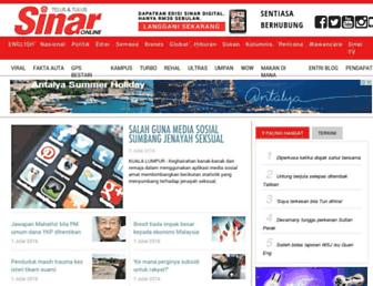 sinarharian.com.my screenshot