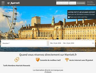 marriott.fr screenshot