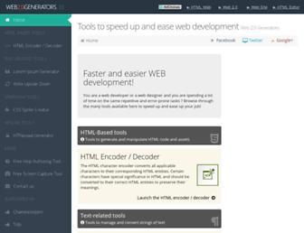 web2generators.com screenshot