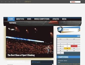 ifsc-climbing.org screenshot