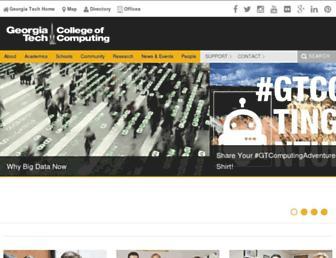 Main page screenshot of cc.gatech.edu