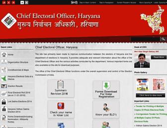 Thumbshot of Ceoharyana.nic.in