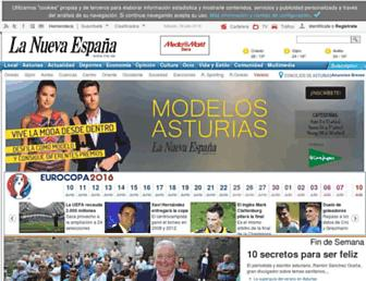 Main page screenshot of lne.es
