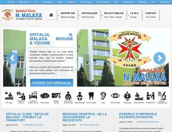 spitalmalaxa.ro screenshot