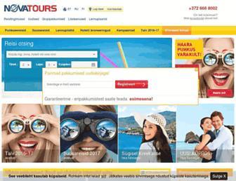 novatours.ee screenshot