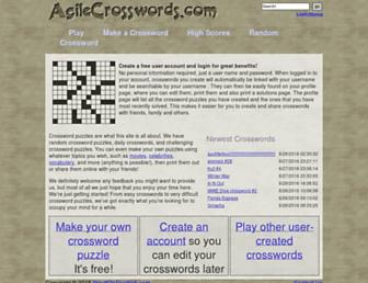 agilecrosswords.com screenshot