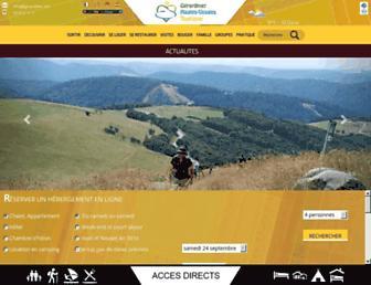 Main page screenshot of gerardmer.net