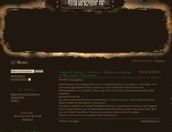 Main page screenshot of stalkerzone.de