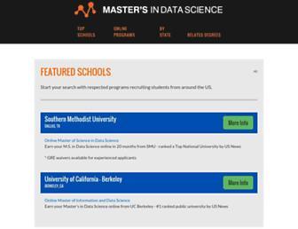 mastersindatascience.org screenshot