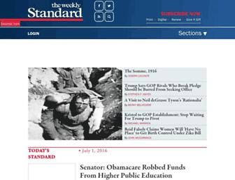 Thumbshot of Weeklystandard.com
