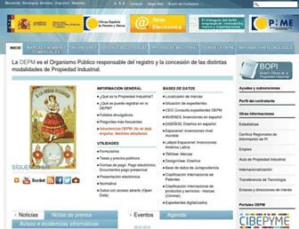 Main page screenshot of oepm.es