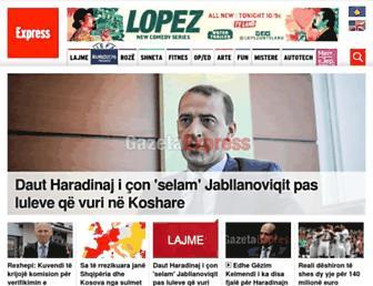 Thumbshot of Gazetaexpress.com