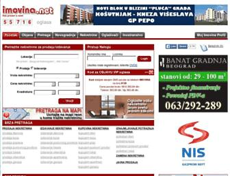 Main page screenshot of imovina.net