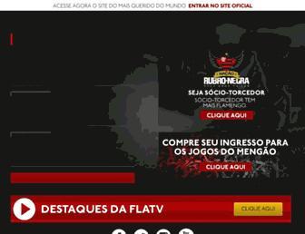 Main page screenshot of flamengo.com.br