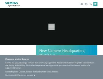 siemens.com screenshot