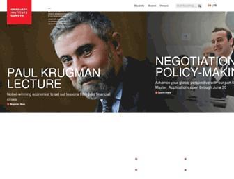 Thumbshot of Graduateinstitute.ch