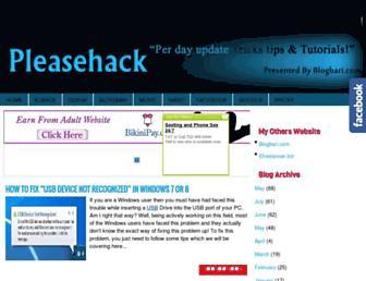 pleasehack.blogspot.com screenshot