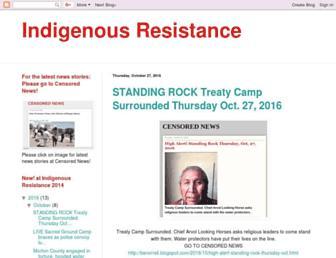 indigenousresistancejuly2014.blogspot.com screenshot