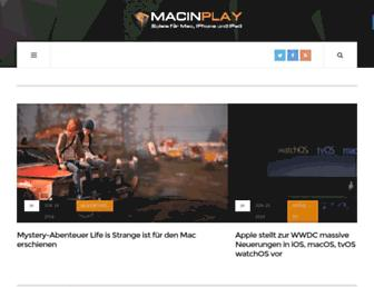 Main page screenshot of macinplay.de