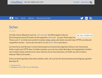 Main page screenshot of cimddwc.net