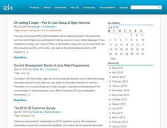 blog.zkoss.org screenshot