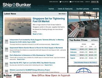 shipandbunker.com screenshot