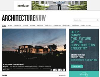 architecturenow.co.nz screenshot
